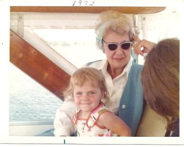 My great-grandma Laug and me. 1973
